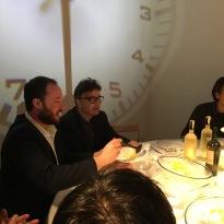 Giuseppe Girgenti e Federico Croci (negli spazi privati dell'artista ALI FARHAZAD