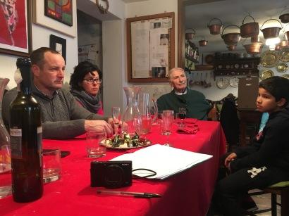 I coniugi Liessi a casa di FLAMINIO e LIAi