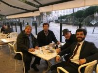 In un bar di MADRID - Massimo Donà e Francesco Valagussa con FELIX DUQUE e VALERIO ROCCO