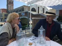 ITALO ZANNIER e LAURA MIRE' alla GIudecca all'Harry's Dolci