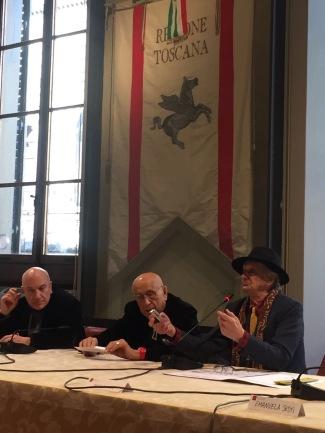 Italo Zannier, Franco Fontana e Massimo Donà a FIRENZE il 29-12-2017