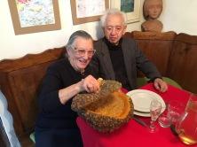 LIA con TONI TONIATO prima di mangiare uno strepitoso risotto di zucca (san Pietro di Feletto 2017)