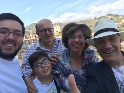 Massimo Donà a SAVOCA con la famiglia di ANTONIO BRANCA