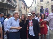 Massimo Donà con DANIELA TISI e VITTORIO SGARBI a Loro Piceno