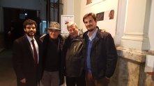 Massimo Donà con Francesco Valagussa, Felix Duque e Valerio Rocco (MADRID, novembre 2017)