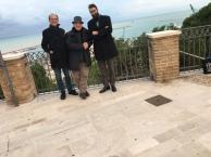 Massimo Donà con il suo studente NICOLA CIRULLI e il padre di Nicola ad ORTONA