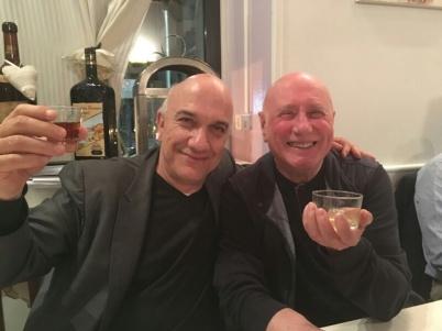 Massimo Donà e Tommaso Trini in un ristorare a MILANO nel 2017