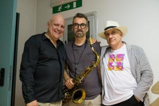 Massimo Donà, Michele Polga, Davide Ragazzoni (basckstage del concerto di ERBUSCO (14 giugno 2017) copia