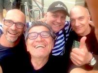 Stefano Olivato, Salvatore Esposito, Davide Ragazzoni e Massimo Donà in piazza Ferretto a MESTRE