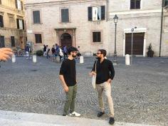 Tommaso Romolotti e Filippo Cicoli durante Ek-statica nel 2017