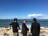Tommaso Romolotti, Giuseppe Girgenti e Fiippo Moretti sul lungomare di PESARO nell'estate del 2017