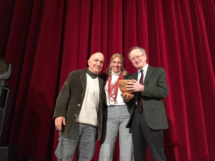 2019 aprile ELEA (VELIA) premio parmenide a givone - sergio givone, massimo donà e giuseppina russo