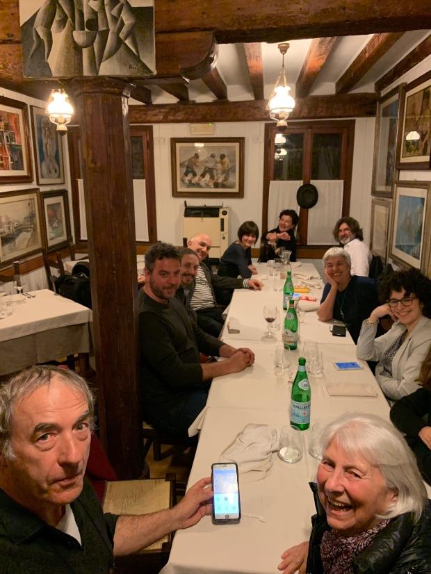 A CENA con RIONDINO dopo PERFORMANCE - primavera 2019... in fondo ALIGI e DANIELA !