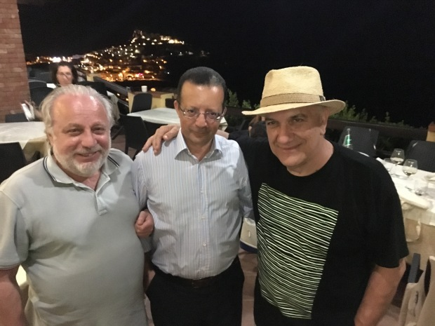 Piero Coda, Carmelo Meazza e Massimo Donà a CASTELSARDO nell'estate del 2019