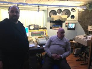 Antonio MORGANTE e mio cugino ENZO MANZI durante la registrazione del mio disco IPERBOLICHE DISTANZE (2018-19)