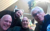 Che combriccola ragazzi ! GIORGIO MASSIMO ANTONIO E DAVIDE da destra a sinistra ! al BLUE TRAIN !!!!!