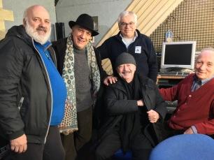 Che bella compagnia ! Claudio Fasoli, Claudio Donà, Virgilio Biscaro, Massimo Donà, Giorgio Spolar al BLUE TRAIN